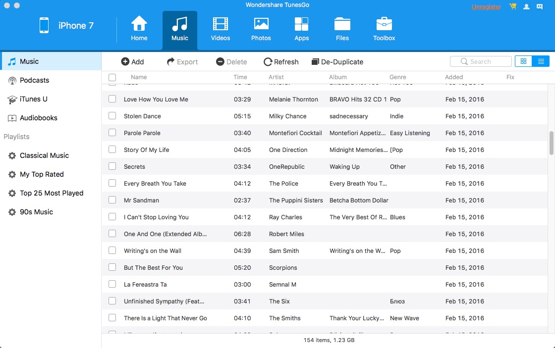 Checking iOS Music Files
