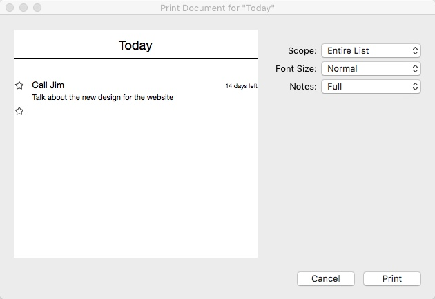 Printing Task Details