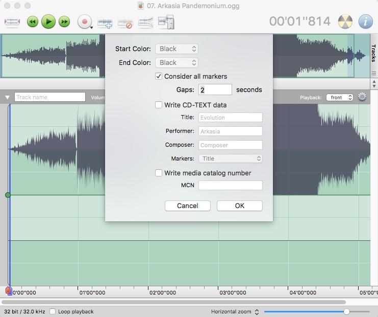 Burning Audio File