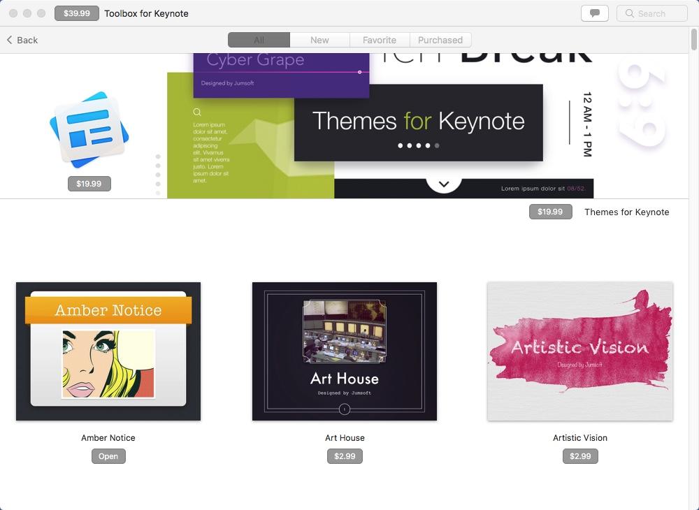 Checking Keynote Themes Samples