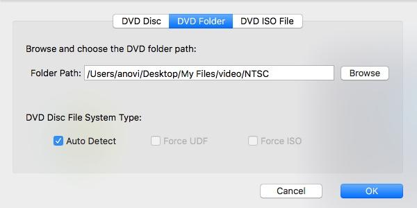 Importing DVD Folder