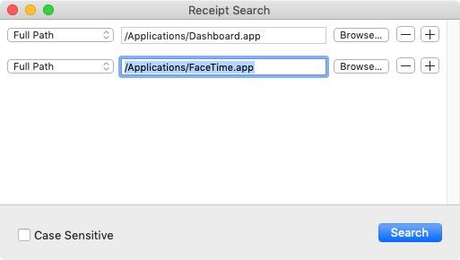 Receipt Search