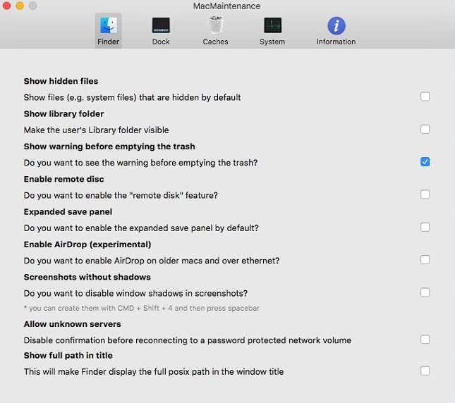 Configuring Finder Settings