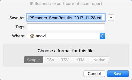 Exporting Scan Results