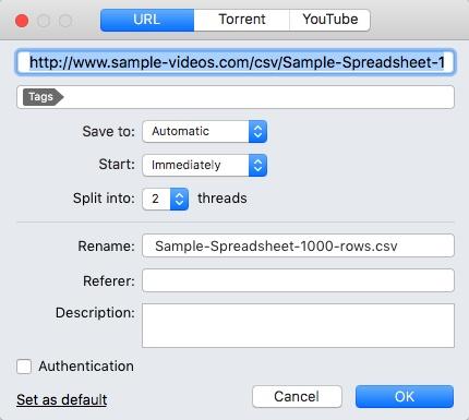 Adding New Download Item