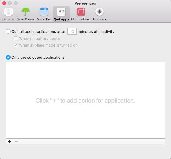 Quit App Options