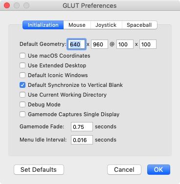 Initialization Preferences