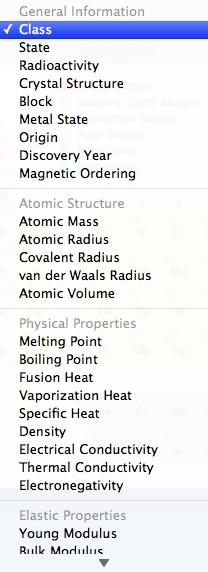 Element Categorization
