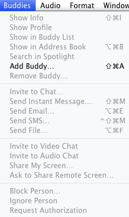 Buddy Menu
