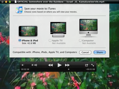 Export to iTunes Feature