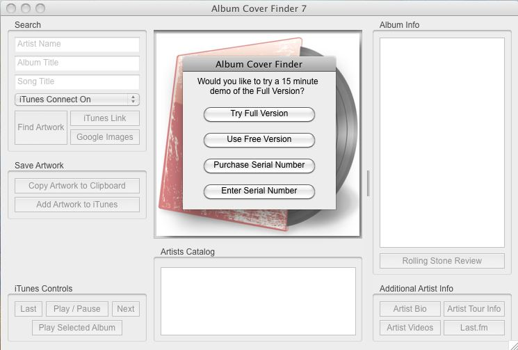 Version Selection Screen