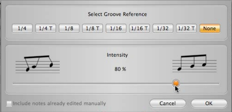 Select Groove Reference
