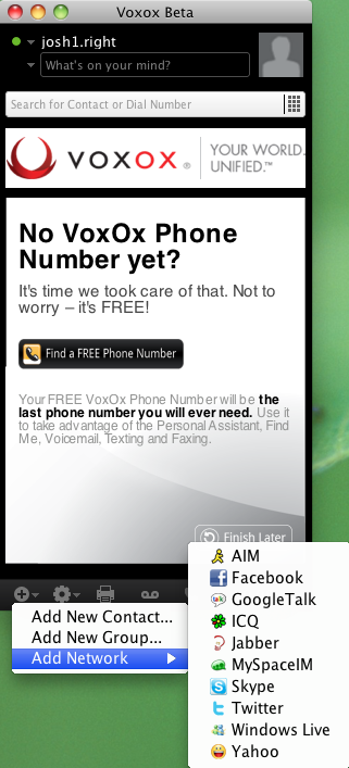 VoxOx Supported Clients
