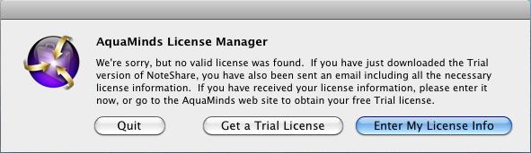 License Input