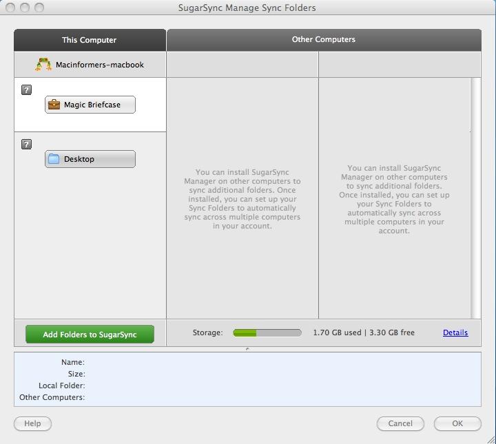 Manage Sync folders