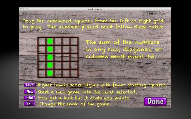 Magic Squares screenshot