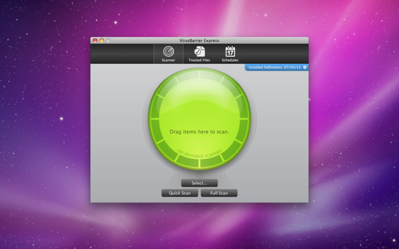 VirusBarrier Express screenshot